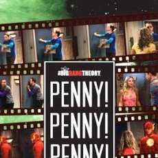 Cine: GENIAL POSTER DE THE BIG BANG THEORY PENNY PENNY PENNY. Lote 294302123