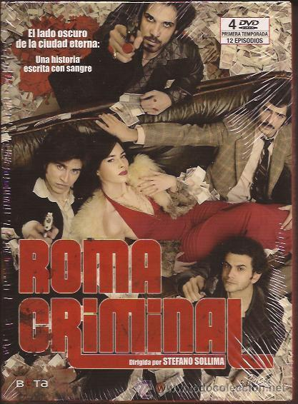 DVD-ROMA CRIMINAL- MINI SERIE TV-4 DVD´S-12 EPISODIOS-STEFANO SOLLIMA-MAFIA (Series TV en DVD)