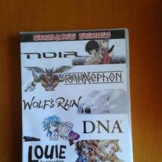 Series de TV: GRANDES SERIES MANGA. NOIR, RAHXEPHON, WOLF'S RAIN, DNA, LOUIE THE RUNE SOLDIER. 2004 SELECTAVISION. Lote 116339958