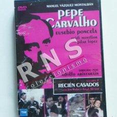 Series de TV: DVD PEPE CARVALHO 7 SERIE DE TELEVISIÓN DETECTIVE RECIÉN CASADOS SUSPENSE VÁZQUEZ MONTALBÁN PONCELA. Lote 37890467