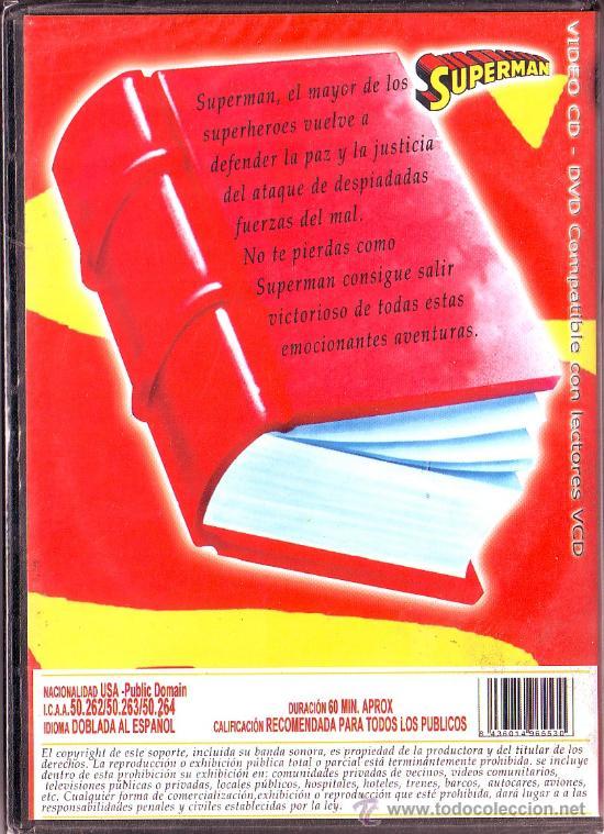 Series de TV: UXD SUPERMAN DVD USA DOBLADA AL ESPAÑOL 60 MINUTOS 9 CAPITULOS DIBUJOS ANIMADOS SUPERHEROE - Foto 2 - 38902790