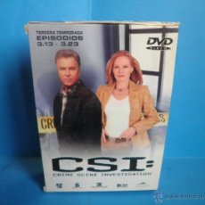 Series de TV: CSI 3ª QUINTA TEMPORADA EPISODIOS 3.13 A 3.23. Lote 42697516