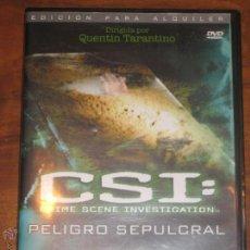 Cine: CSI: CRIME SCENE INVESTIGATION - PELIGRO SEPULCRAL - QUENTIN TARANTINO. Lote 53979095