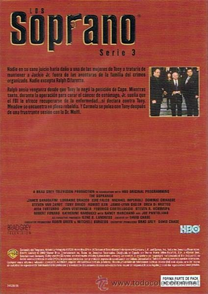 Series de TV: DVD LOS SOPRANO SERIE 3 (4 DVD) - Foto 3 - 49982044