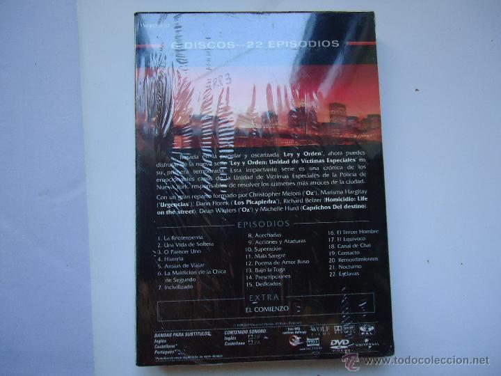 Series de TV: PELÍCULA DVD. SERIE LEY Y ORDEN, PRIMERA TEMPORADA COMPLETA, 6 DISCOS 22 EPISODIOS.. VER MÁS. - Foto 3 - 51235034