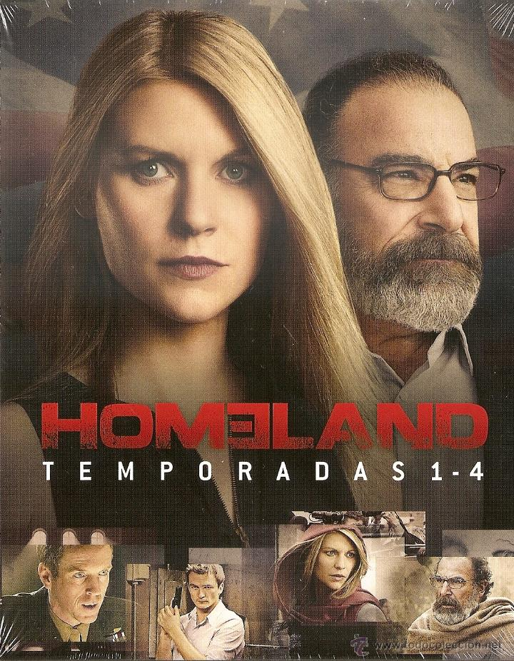 HOMELAND. TEMPORADAS 1-4. BLU RAY. PRECINTADO. NUEVO. SERIE TV.