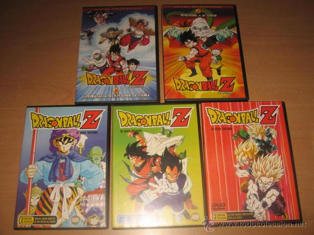 LOTE 5 DVD DRAGON BALL Z LAS PELICULAS (Series TV en DVD)