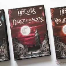 Series de TV: 3 DVDS SHERLOCK HOLMES DE BASIL RATHBONE. OCASIÓN; NUEVOS. Lote 54221784