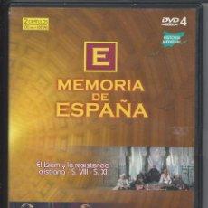 Cine: MEMORIA DE ESPAÑA Nº 4 - EL ISLAM Y LA RESISTENCIA CRISTIANA - S. VIII - S. XI. Lote 54693163