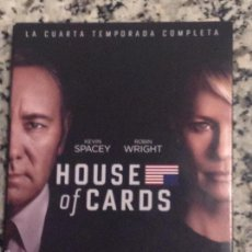 Cine: HOUSE OF CARDS. CUARTA TEMPORADA COMPLETA. 4 DVD. KEVIN SPACEY. ROBIN WRIGHT. Lote 59986291