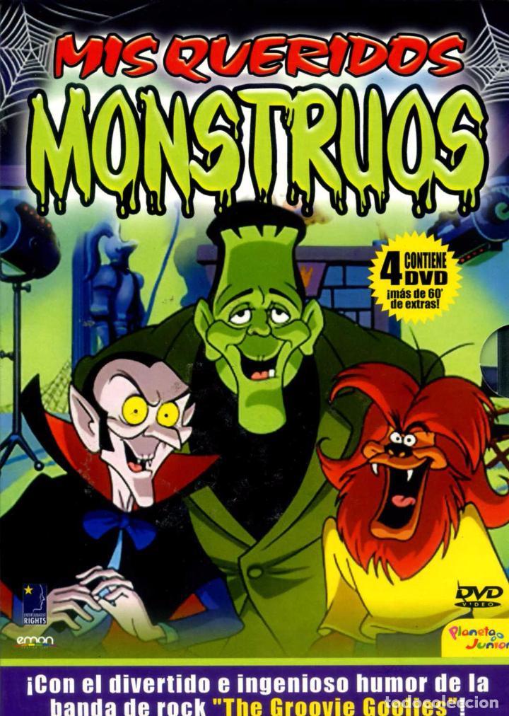MIS QUERIDOS MONSTRUOS-GROOVIE GOOLIES (4 DVD) ANIMACION ROCK. SERIE DE CULTO. DESCATALOGADO (Series TV en DVD)