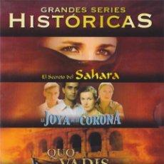 Cine: EL SECRETO DEL SAHARA / LA JOYA DE LA CORONA / QUO VADIS / MARCO POLO 11 DVS DESCATALOGADA. Lote 68481453
