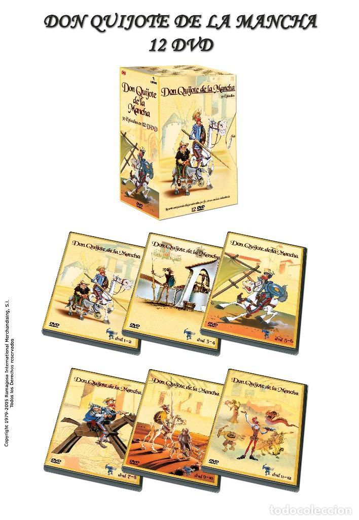 12 DVD - SERIE DE DIBUJOS ANIMADOS DON QUIJOTE DE LA MANCHA (1979) - COMPLETA - CON PRECINTO (Series TV en DVD)