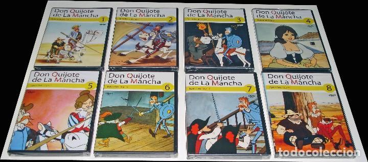 Cine: PROMOCIÓN PRENSA - DIBUJOS ANIMADOS DON QUIJOTE DE LA MANCHA (1979) - 18 DVD COMPLETA - CON PRECINTO - Foto 2 - 85435340