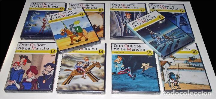 Cine: PROMOCIÓN PRENSA - DIBUJOS ANIMADOS DON QUIJOTE DE LA MANCHA (1979) - 18 DVD COMPLETA - CON PRECINTO - Foto 4 - 85435340