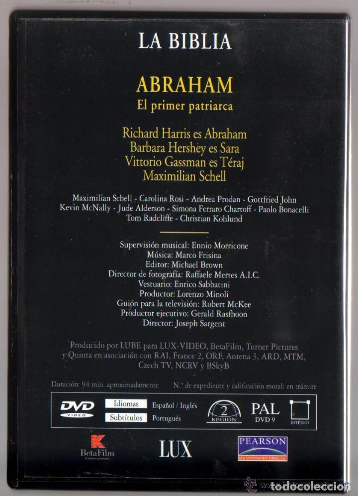 Series de TV: DVD MINISERIE - LA BIBLIA ABRAHAM EL PRIMER PATRIARCA - COMO NUEVO - UN SOLO USO - Foto 2 - 73589531