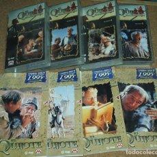 Series de TV: EL QUIJOTE SERIE TV- LOTE DE 4 LIBROS Y 4 VHS PRECINTADOS ORIGINAL-IMPORTANTE LEER DESCRIP-ENVIOS. Lote 80457981