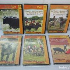 Series de TV: TIERRA DE TOROS. GRANDES DOCUMENTALES TVE. DVD NUM: 1/2/3/4/5/6 Y 7. VER FOTOGRAFIAS ADJUNTAS. Lote 84716112