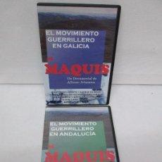 Series de TV: EL MOVIMIENTO GUERRERO EN ANDALUCIA . EN GALICIA. EL MAQUIS. ALFONSO ARTESEROS. DOS DVD.. Lote 88257020