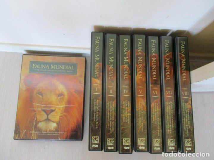 FAUNA MUNDIAL. DOS VHS EN CADA UNA DE LAS OCHO CAJAS ARCHIVADORAS. RMT81432. (Series TV en DVD)