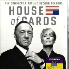 Series de TV: HOUSE OF CARS , THE COMPLETE FIRST AND SECOND SEASONS ( TEMPORADAS 1 Y 2, COMPLETAS) INGLES . Lote 92930345