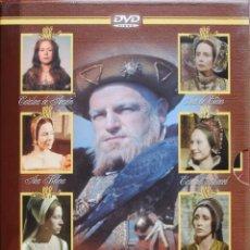 Cine: LAS SEIS ESPOSAS DE ENRIQUE VIII (BBC, SERIE COMPLETA DE 3 DVDS, 1970, KEITH MITCHELL) (VER FOTOS). Lote 95879567