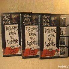 Cine: 3 DVD SERIE TV. HISTORIAS PARA NO DORMIR. 1-2-3. Lote 97307595