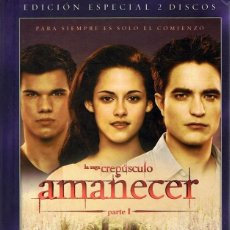 Cine: AMANECER PARTE 1 LA SAGA CREPÚSCULO ( EDICIÓN ESPECIAL 2 DVD + LIBRO + 22 POSTALES). Lote 98150807
