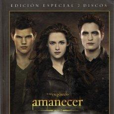 Cine: AMANECER PARTE 2 LA SAGA CREPÚSCULO ( EDICIÓN ESPECIAL 2 DVD + LIBRO + 22 POSTALES). Lote 98151103