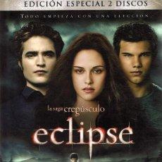 Cine: ECLIPSE LA SAGA CREPÚSCULO ( EDICIÓN ESPECIAL 2 DVD + LIBRO). Lote 98153275