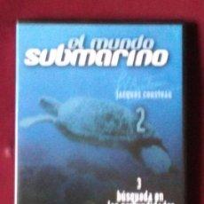 Cine: MUNDO SUBMARINO. JACQUES COUSTEAU. EPISODIOS 3 Y 4 (DVD). Lote 98199699
