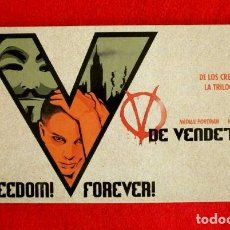 Cine: V DE VENDETTA (2006) EDICION ESPECIAL COLECCIONISTAS (2 DVDS + 17 FOTOS) DIR. JAMES MCTEIGUE -MATRIX. Lote 102083143