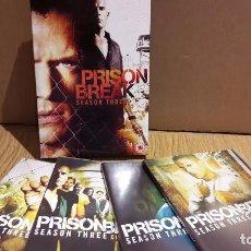 Series de TV: PRISON BREAK. TEMPORADA 3 COMPLETA / VERSIÓN INGLESA / 4 DVD DE LUJO + ESTUCHE.. Lote 103557359