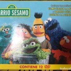 Series de TV: BARRIO SÉSAMO CONTIENE 12 DVD - INCLUYE ELMO SALVA LA NAVIDAD Y BARRIO SÉSAMO LA CENICIENTA . Lote 104367571