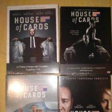 Series de TV: HOUSE OF CARDS CUATRO TEMPORADAS NUEVAS CASTELLANO E INGLES PRIMERA, SEGUNDA, TERCERA Y CUARTA. Lote 109999419