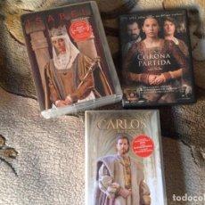 Cine: ISABEL,LA CORONA PARTIDA Y CARLOS REY EMPERADOR EN DVD.. Lote 111788015