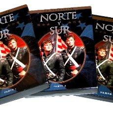 Cine: NORTE Y SUR - SERIE COMPLETA (PARTES 1, 2 Y 3 - 8 DISCOS) - PATRICK SWAYZE DVD DESCATALOGADAS. Lote 125512908