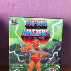 Cine: HE-MAN MASTERS DEL UNIVERSO TEMPORADA 1 Y 2 - COMPLETAS EN PERFECTO ESTADO. Lote 112697195