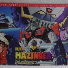 Cine: DVD MAZINGER Z: PACK Nº 8, 12 EPISODIOS EN 3 DVDS, EPISODIOS DEL 81 AL 92 (ULTIMO) - PRECINTADO. Lote 112709051