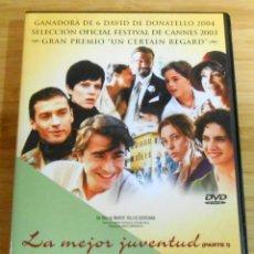 Cine: LA MEJOR JUVENTUD/ LOS AÑOS SOÑADOS 2 DVD MARCO TULIO GIORDANA. Lote 115505863
