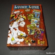 Cine: PACK LUCKY LUKE ( 10 EPISODIOS DE 26 MIN. ) - 5 DVD - PRECINTADO - MAMA DALTON - LA DILIGENCIA .... Lote 117373695