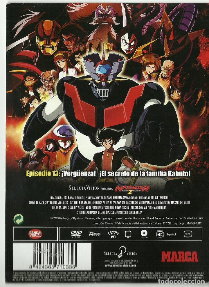 Series de TV: DVD - MAZINGER Z EPISODIO 13 - ¡VERGUENZA! ¡EL SECRETO DE LA FAMILIA KABUTO! - Foto 2 - 124384619