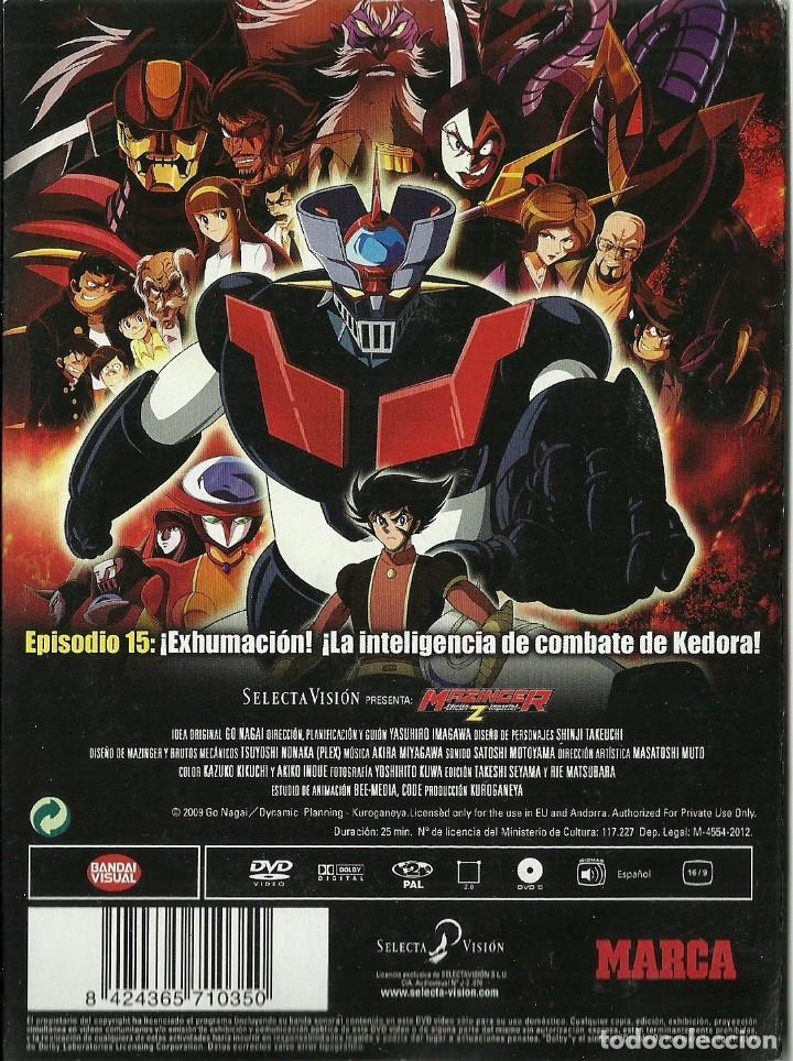 Series de TV: DVD - MAZINGER Z EPISODIO 15 - ¡EXHUMACION! ¡LA INTELIGENCIA DE COMBATE DE KEDORA! - Foto 2 - 124394235