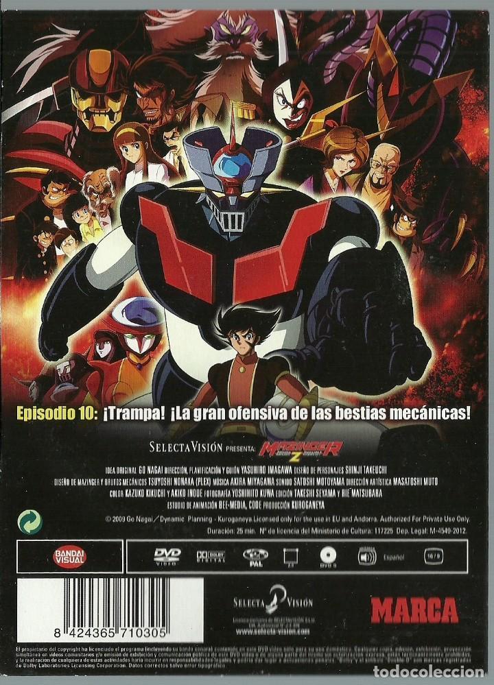Series de TV: DVD - MAZINGER Z EPISODIO 10 - ¡TRAMPA! ¡LA GRAN OFENSIVA DE LAS BESTIAS MECANICAS! - Foto 2 - 124394763