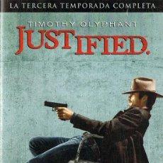 Series de TV: JUSTIFIED 3ª TEMPORADA COMPLETA TIMOTHY OLYPHANT ( 3 DVD). Lote 128641971