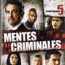 Cine: MENTES CRIMINALES TEMPORADA 5 . Lote 133723390