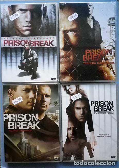 tododvd: prison break temporada primera, tercera cuarta y evasion final  precintadas