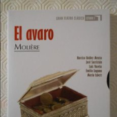 Series de TV: EL AVARO. MOLIERE. GRAN TEATRO CLASICO. ESTUDIO 1. RTVE. DVD DE LA OBRA DE TEATRO INTERPRETADA POR N. Lote 240768785