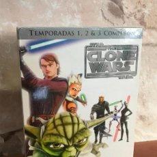 Series de TV: CLONES WARS STAR WARS SERIE EN DVD , 1,2 Y 3 TEMPORADAS PRECINTADA. Lote 137915810