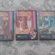 Series de TV: DVD LOTE PAPYRUS 3 PELICULAS (CON 4 O 5 CAPITULOS CADA UNA)(2 DE LAS 3 PRECINTADAS). Lote 142300170